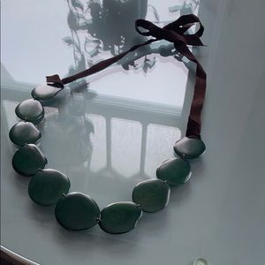 Jewelry - Leather & Jade Stone Necklace